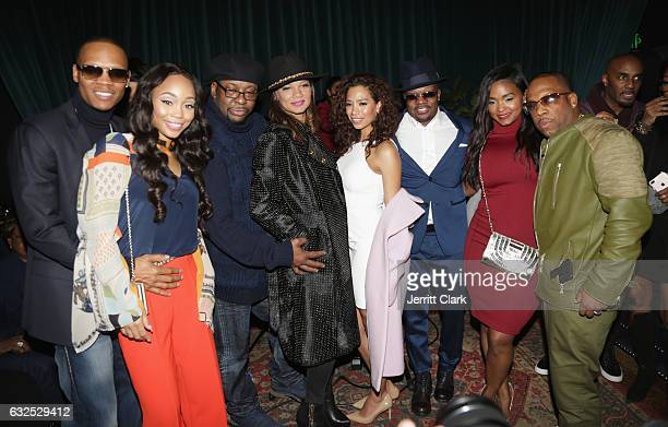 Ronnie DeVoe Shamari Fears Bobby Brown Alicia EtheredgeBrown Ricky Bell Amy Correa Teasha Bivins and Michael Bivins celebrate New Edition's Star On...