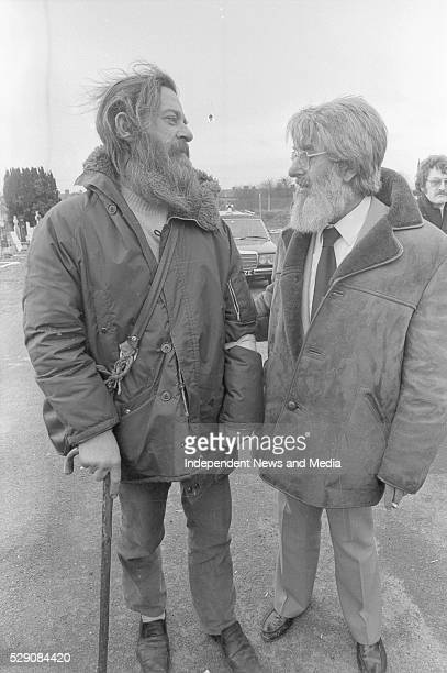 Ronnie Drew and Ciaran Bourke a member of the original group at the Mass 2/2/84