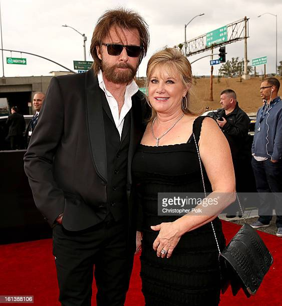 Ronnie Dunn and Janine Dunn arrive at the 55th Annual GRAMMY Awards on February 10 2013 in Los Angeles California