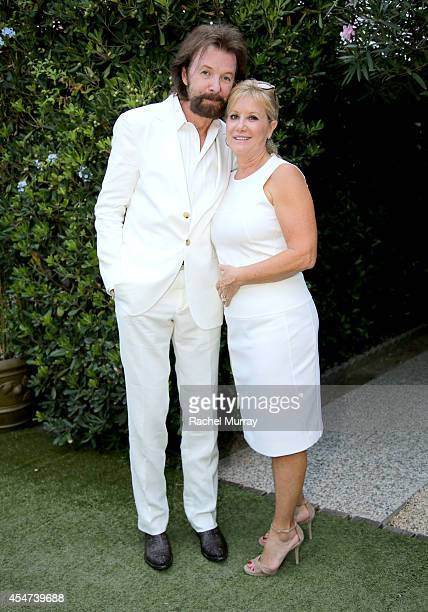 Ronnie Dunn and Janine Dunn attend a private sunset reception at Minerva Beach celebrating Fight Night In Italy benefitting The Andrea Bocelli...