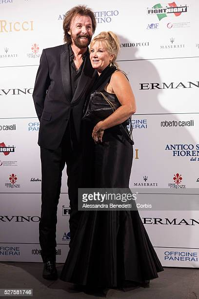 Ronnie Dunn and Janine Dunn attend the Celebrity Night Fight charity gala and auction at Palazzo Vecchio in FlorenceThe charuty event benefits the...