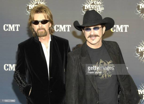 Ronnie Dunn and Kix Brooks during 2006 CMT Music Awards - Arrivals at Curb Event Center at Belmont University in Nashville, Tennessee, United States.
