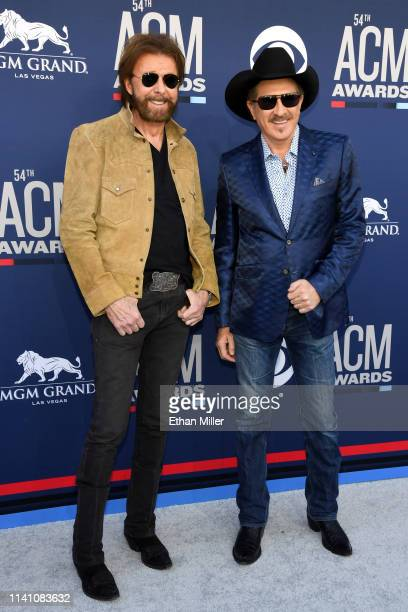 Ronnie Dunn and Kix Brooks of Brooks and Dunn attends the 54th Academy Of Country Music Awards at MGM Grand Hotel Casino on April 07 2019 in Las...