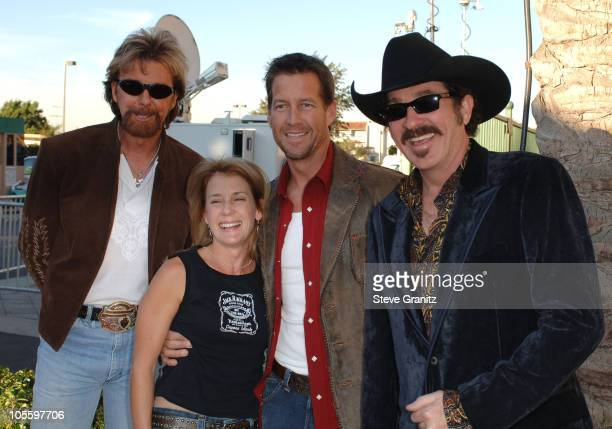 Ronnie Dunn and Kix Brooks of Brooks and Dunn, nominees Favorite Band Duo or Group , with James Denton and Erin O'Brien