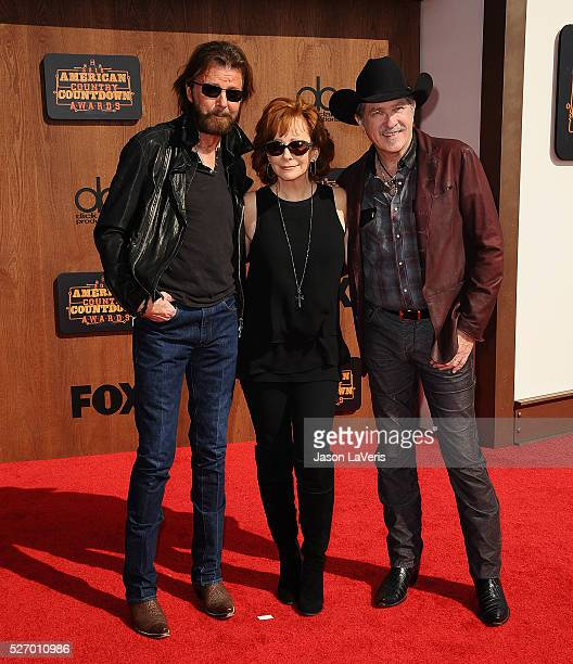 Ronnie Dunn and Kix Brooks of Brooks Dunn and Reba McEntire attend the 2016 American Country Countdown Awards at The Forum on May 01 2016 in...