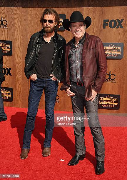 Ronnie Dunn and Kix Brooks of Brooks Dunn attend the 2016 American Country Countdown Awards at The Forum on May 01 2016 in Inglewood California