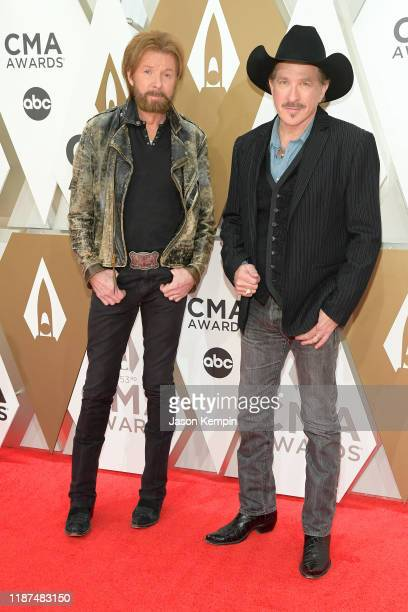 Ronnie Dunn and Kix Brooks of Brooks Dunn attend the 53rd annual CMA Awards at the Music City Center on November 13 2019 in Nashville Tennessee