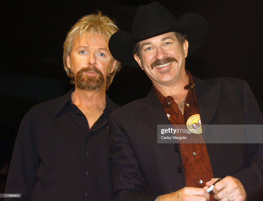 Ronnie Dunn and Kix Brooks of Brooks & Dunn during 2004 Republican National Convention - Day 3 - Inside at Madison Square Garden in New York City, New York, United States.