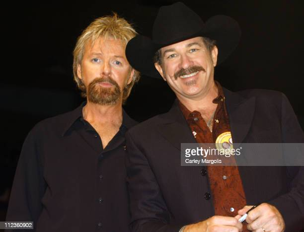Ronnie Dunn and Kix Brooks of Brooks Dunn during 2004 Republican National Convention Day 3 Inside at Madison Square Garden in New York City New York...