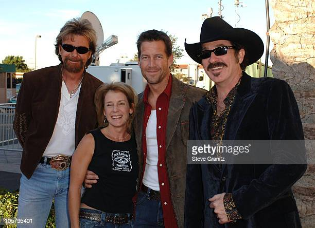 Ronnie Dunn and Kix Brooks of Brooks & Dunn, nominees Favorite Band Duo or Group , with James Denton and Erin O'Brien