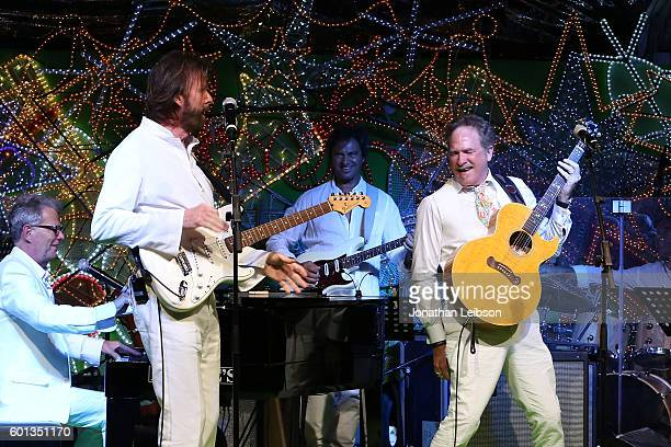 Ronnie Dunn and Kix Brooks of Brooks Dunn perform at a dinner and reception at Andrea Bocelli's country home as part of Celebrity Fight Night Italy...