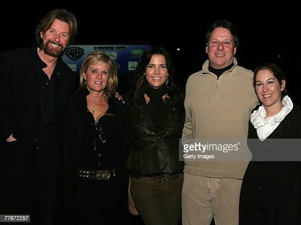 Ronnie Dunn Janine Dunn Anastasia Brown Richard Lewis and Julia Michels arrive for the drivein screening of August Rush