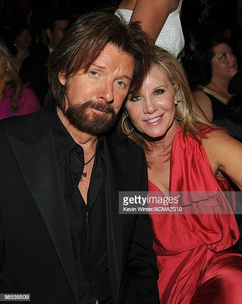 Ronnie Dunn of Brooks Dunn with his wife Janine during the 45th Annual Academy of Country Music Awards at the MGM Grand Garden Arena on April 18 2010...