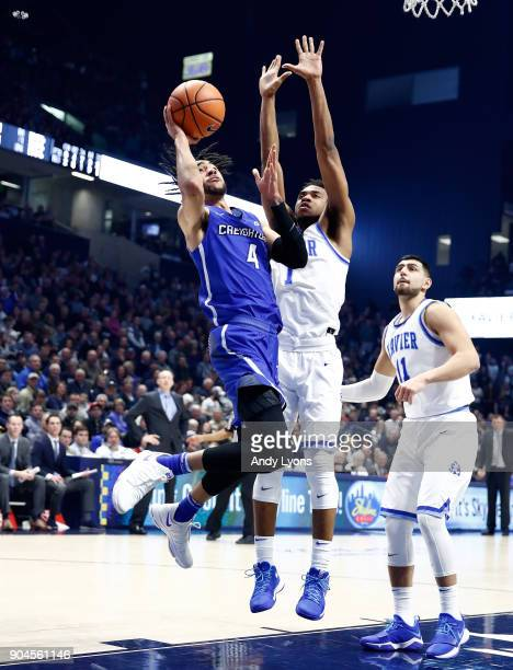 Ronnie Harrell Jr #4 of the Creighton Bluejays shoots the ball against the Xavier Musketeers at Cintas Center on January 13 2018 in Cincinnati Ohio