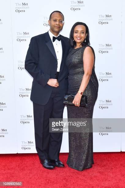 Ronnie Hawkins and Nigest GetahunHawkins attend The Metropolitan Opera Opening Night Gala SaintSaens' 'Samson et Dalila' at Lincoln Center on...