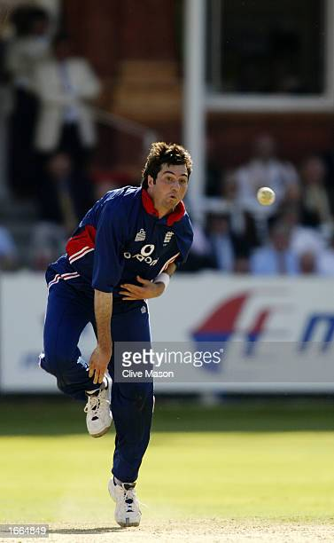 Ronnie Irani of England in action during the NatWest One Day Series Final between England and India held on July 13 2002 at Lord's in London DIGITAL...