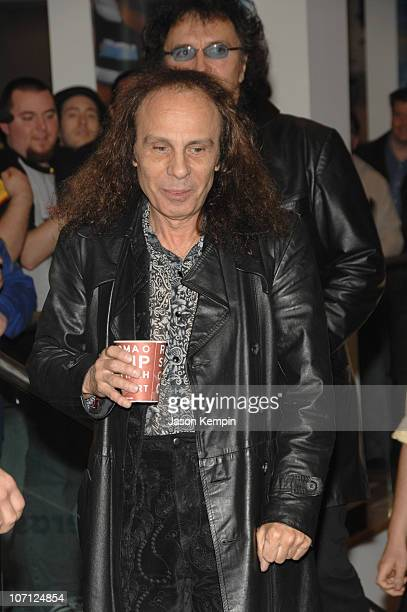 Ronnie James Dio and Tony Iommi during Black Sabbath InStore Appearance For 'Heaven and Hell The Dio Years' April 3 2007 at Best Buy 5th Avenue in...
