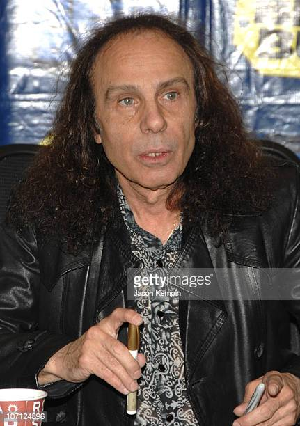 Ronnie James Dio during Black Sabbath InStore Appearance For 'Heaven and Hell The Dio Years' April 3 2007 at Best Buy 5th Avenue in New York City New...