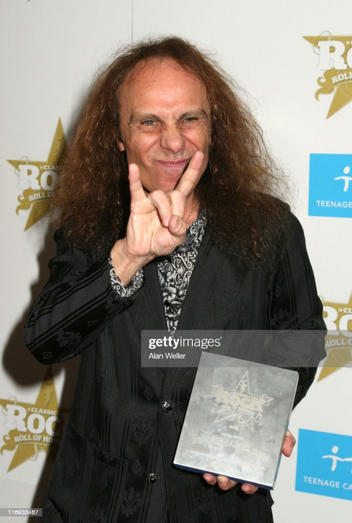 Ronnie James Dio during Classic Rock and Roll Honours - Press Room at Langham Hotel in London, Great Britain.