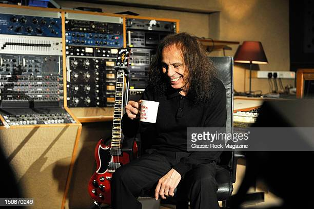 Ronnie James Dio of Heaven and Hell at the Rockfield Studios on July 25, 2007 in Monmouth.