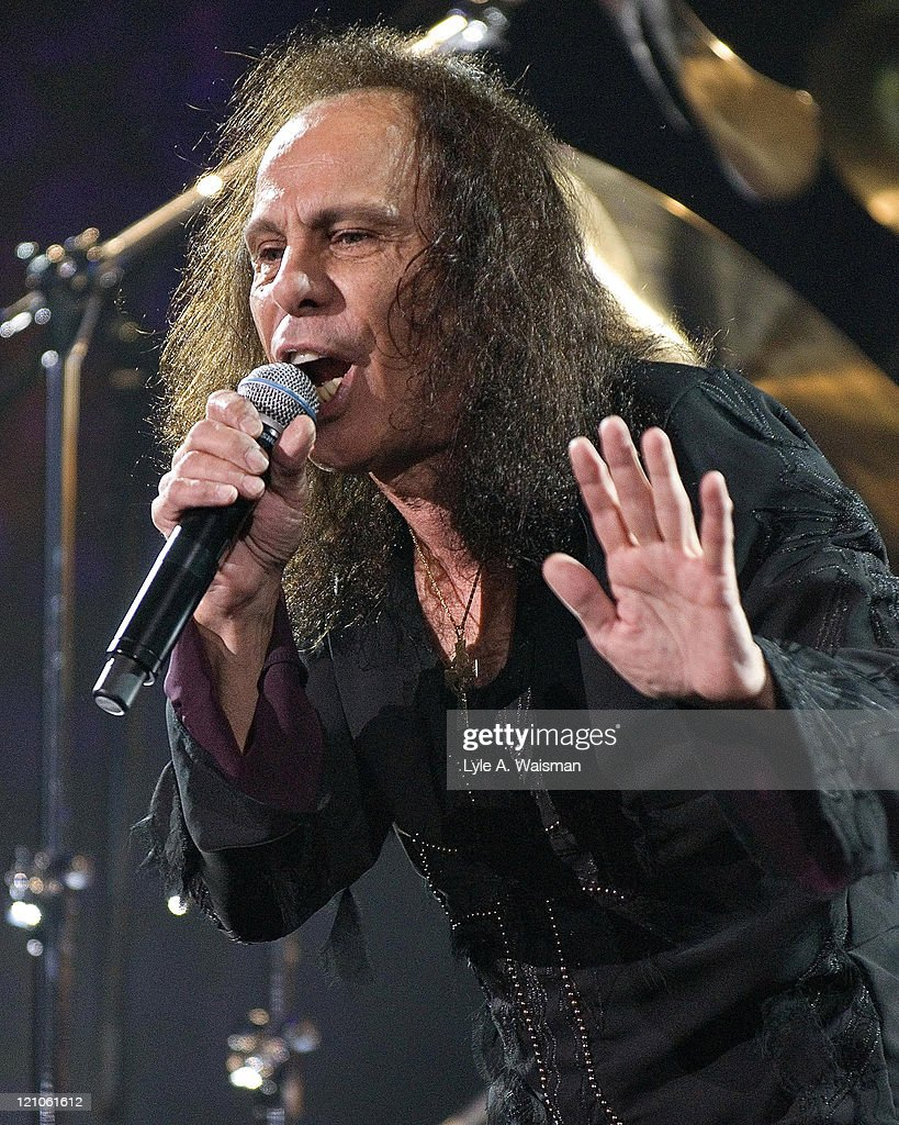 Ronnie James Dio of Heaven and Hell during Heaven and Hell and Megadeth in Concert at the Allstate Arena in Chicago - May 5, 2007 at Allstate Arena in Rosemont, Illinois, United States.