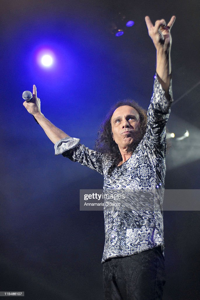 Ronnie James Dio of Heaven and Hell during Heaven and Hell Live World Tour 2007 at Los Angeles Forum in Los Angeles, CA, United States.