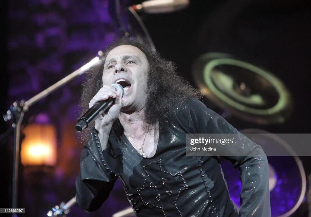 Ronnie James Dio of Heaven and Hell during Heaven and Hell Performs at the HP Pavilion in San Jose - April 24, 2007 at HP Pavilion in San Jose, California, United States.