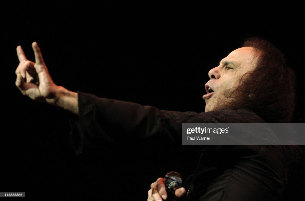 Ronnie James Dio of Heaven and Hell during Heaven and Hell Tour in Detroit - May 12, 2007 at Cobo Arena in Detroit, Michigan, United States.