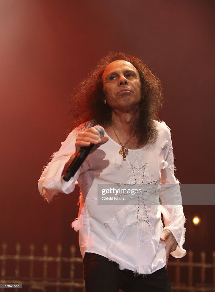 Ronnie James Dio of the band Heaven and Hell during a performance at Wembley Arena on November 10, 2007 in London, England.