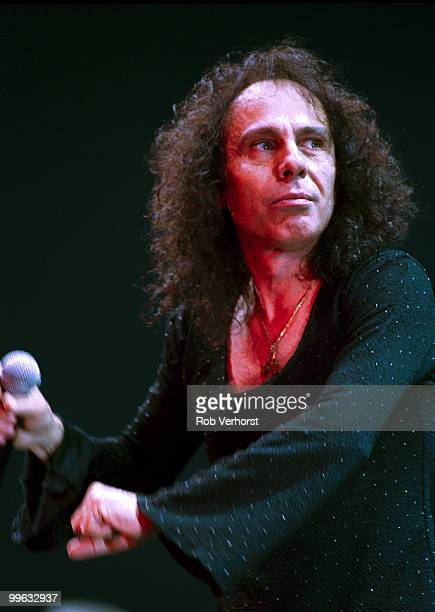 Ronnie James Dio performs on stage at guest vocalist with Deep Purple at Ahoy on October 30th 2000 in Rotterdam Netherlands
