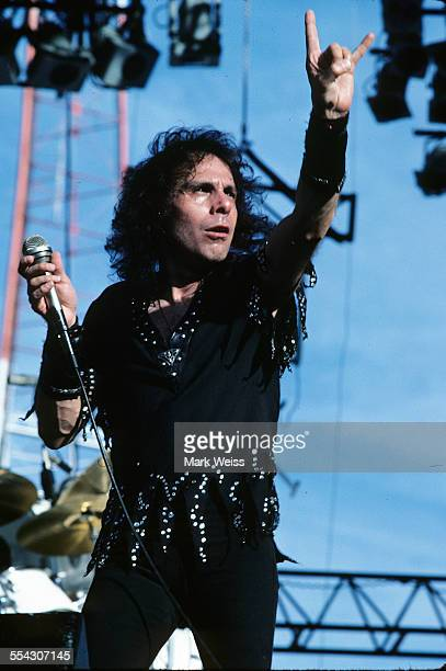 Ronnie James Dio performs on stage United States 1986