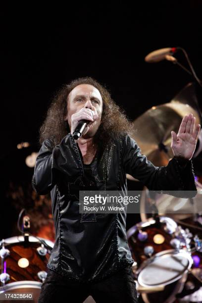 Ronnie James Dio performs with Heaven Hell in concert at the HP Pavilion on April 24 2007 in San Jose California