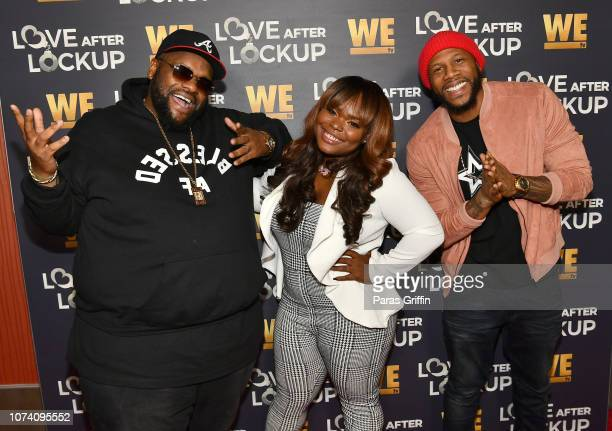 Ronnie Jordan Dani Canada and Tyler Does attend Love After Lockup Season Two Atlanta premiere at Regal Atlantic Station on November 28 2018 in...