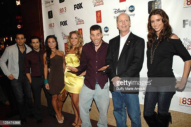 Ronnie Khalil Ryan Shrime Jessica Sylvia Gia Khay SteveO Dan Fanelli and Shannon Elizabeth attend the 2nd Annual Middle Eastern Comedy Festival...
