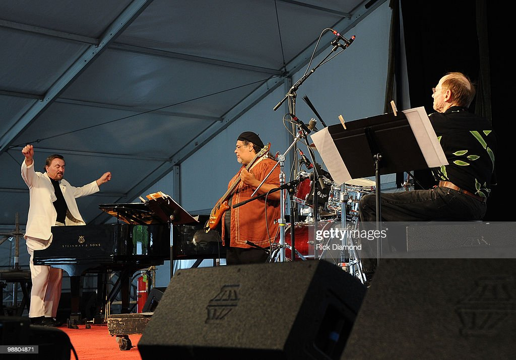 Ronnie Kole (left) Trio performs at the 2010 New Orleans Jazz & Heritage Festival Presented By Shell - Day 7 at the Fair Grounds Race Course on May 2, 2010 in New Orleans, Louisiana.