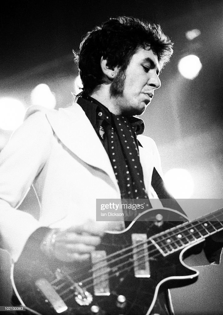 Ronnie Lane from The Faces performs live on stage at Newcastle City Hall on December 08 1972