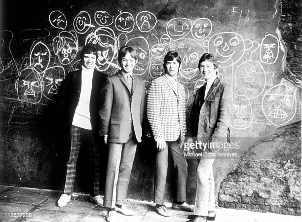 """Ronnie Lane, Steve Marriott, Ian McLagan and Kenney Jones of the rock and roll band """"Small Faces"""" pose for a portrait in circa 1966."""