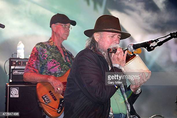 Ronnie Leatherman and Tommy Hall of the 13th Floor Elevators perform as a group for the first time in 45 years during the Levitation Festival at...
