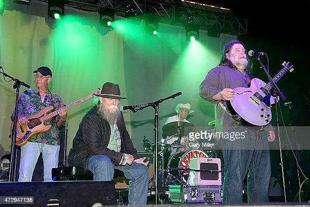 Ronnie Leatherman Tommy Hall John Ike Walton and Roky Erickson the four surviving original members of the 13th Floor Elevators perform as a group for...