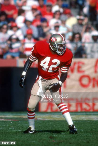 66353142b8b Ronnie Lott of the San Francisco 49ers in action during an NFL football game  circa 1988