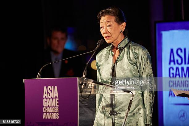 Ronnie Lulu Wang Founder and CEO of Tupelo Capitial Management introduces IM Pei 2016 Asia Game Changers held at the United Nations New York...