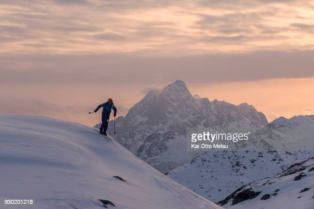 Ronnie Maas Pedersen at The Arctic Triple Lofoten Skimo on March 10 2018 in Svolvaer Norway Lofoten Skimo is one of three races organized under The...