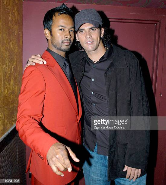 Ronnie Madra and Mark Philippoussis during The Opening of Gypsy Tea Lounge at Gypsy Tea Lounge in New York City New York United States
