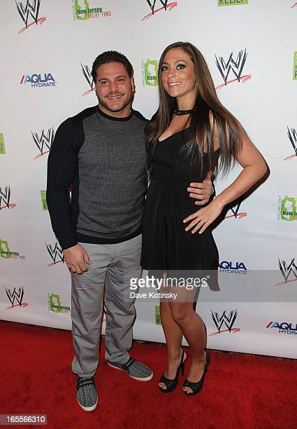 Ronnie Magro and Sammi Giancola attend the Superstars For Sandy Relief at Cipriani Wall Street on April 4 2013 in New York City