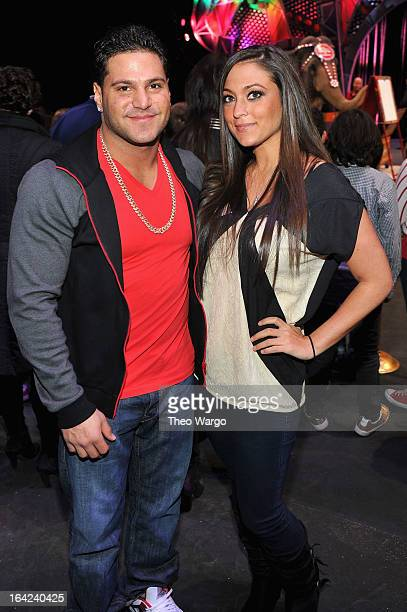 Ronnie Magro and Sammi 'Sweetheart' Giancola attend Ringling Bros And Barnum Bailey Present Built To Amaze on March 21 2013 in New York City