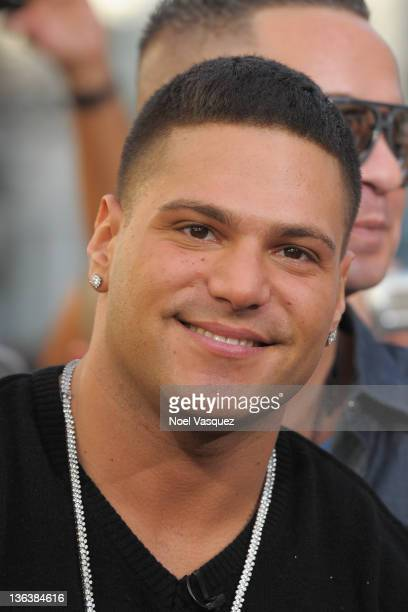 Ronnie Magro visits Extra at The Grove on January 3 2012 in Los Angeles California