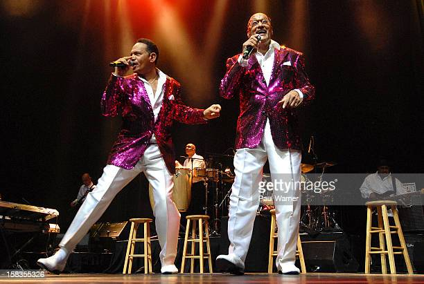 Ronnie McNeir and Abdul Duke Fakir of the Four Tops perform at The Soundboard Motor City Casino on December 13 2012 in Detroit Michigan