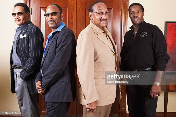 Ronnie McNeir Lawrence Roquel Payton Jr Abdul Duke Fakir and Theo Peoples of The Four Tops pose for portraits at The Grosvenor House Hotel on March 4...