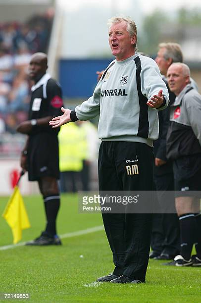 Ronnie Moore manager of Tranmere Rovers looks on during the Coca Cola League One match between Northampton Town and Tranmere Rovers at Sixfields...