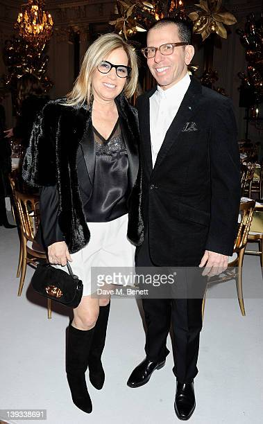 Ronnie Newhouse and Jonathan Newhouse attend a dinner following the Mulberry Autumn/Winter 2012 show during London Fashion Week at The Savile Club on...